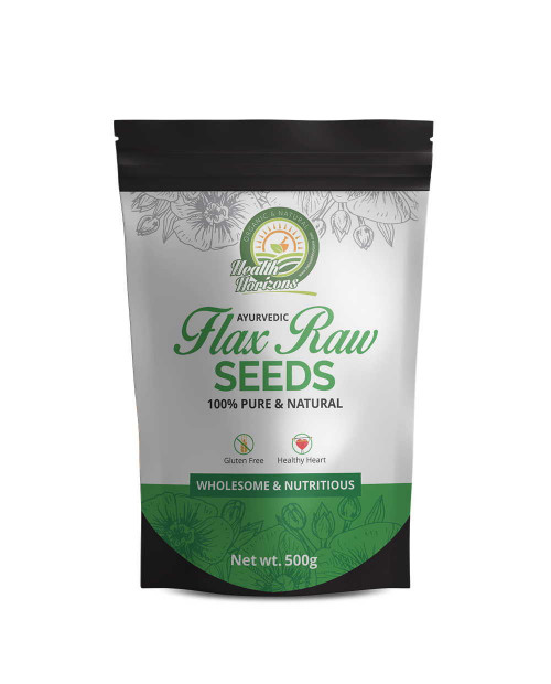 Health Horizons Ayurvedic Raw Flaxseed  500 gm