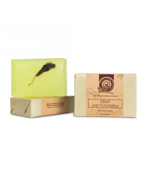 Health Horizons Hemp Soap With Tulsi and Neem Extracts 125gm