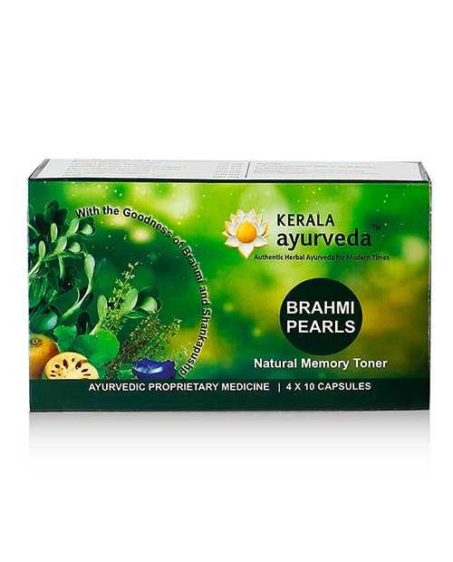 Kerala Ayurveda Brahmi Pearls 40 Capsules