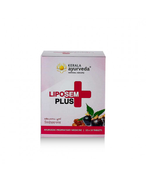 Kerala Ayurveda Liposem Plus Tablet 100 Count