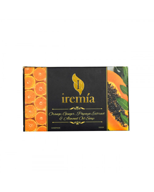 Iremia Orange Oil Ginger Oil Papaya Extract and Almond Oil soap 100gm
