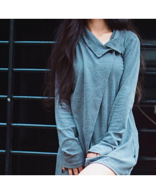 "COA Grey ""Undercover"" Organic Pullover Shrug"