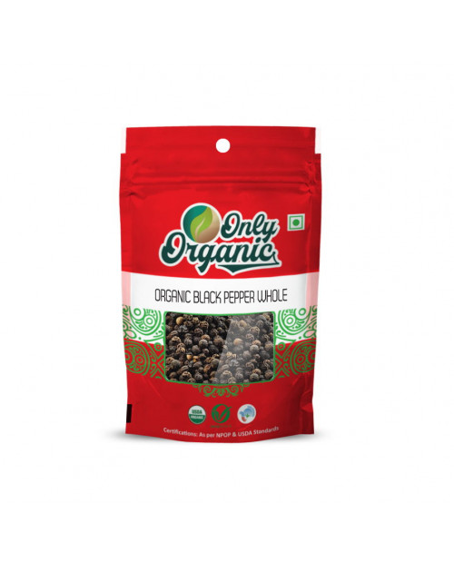 Organic Black Pepper Whole 100gm