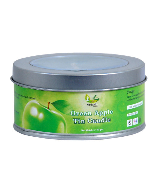 Vedagiri Green Apple Tin Candle 110gm