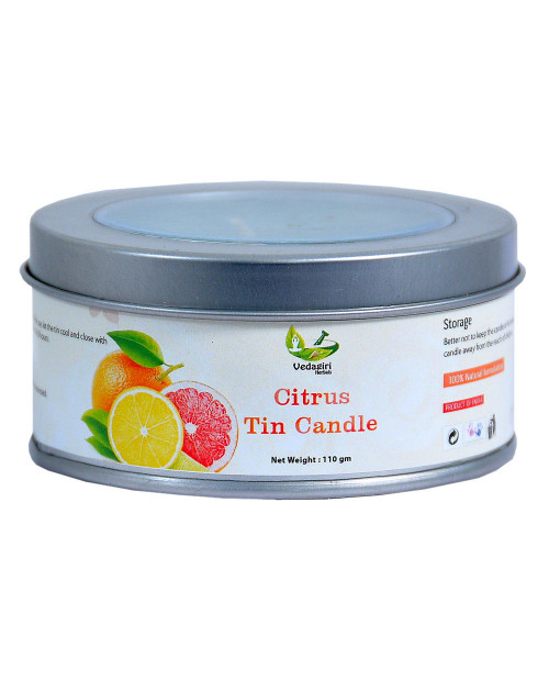 Vedagiri Citrus Tin Candle  110gm