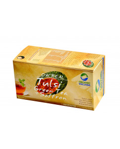 Organic Wellness Real Tulsi Green Tea + Saffron